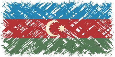 azerbaijani: Azerbaijani grunge flag. Vector illustration. Grunge effect can be cleaned easily.