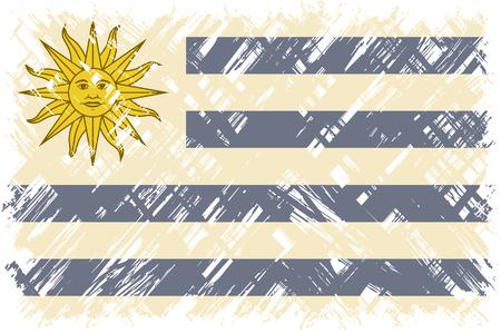 cleaned: Uruguayan grunge flag. Vector illustration. Grunge effect can be cleaned easily. Illustration