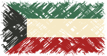 cleaned: Kuwait grunge flag. Vector illustration. Grunge effect can be cleaned easily. Illustration