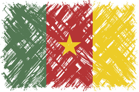 cleaned: Cameroon grunge flag. Vector illustration. Grunge effect can be cleaned easily.