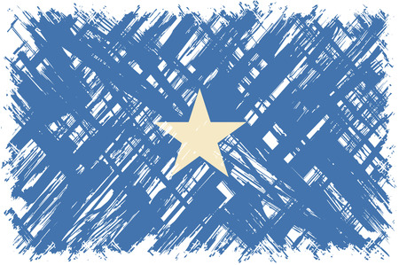 somalian: Somalian grunge flag. Vector illustration. Grunge effect can be cleaned easily.