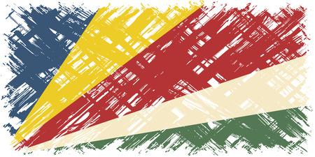 cleaned: Seychelles grunge flag. Vector illustration. Grunge effect can be cleaned easily. Illustration