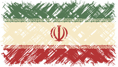 iranian: Iranian grunge flag. Vector illustration. Grunge effect can be cleaned easily.