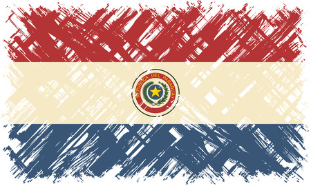 cleaned: Paraguayan grunge flag. Vector illustration. Grunge effect can be cleaned easily.