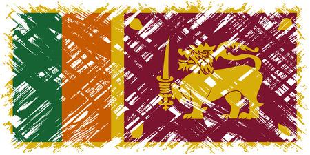 cleaned: Sri Lanka grunge flag. Vector illustration. Grunge effect can be cleaned easily.
