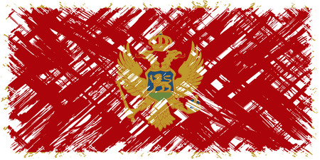 cleaned: Montenegrin grunge flag. Vector illustration. Grunge effect can be cleaned easily. Illustration
