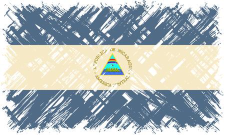 nicaraguan: Nicaraguan grunge flag. Vector illustration. Grunge effect can be cleaned easily.