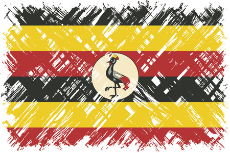 ugandan: Ugandan grunge flag. Vector illustration. Grunge effect can be cleaned easily. Illustration
