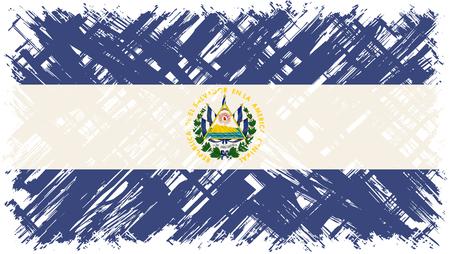 cleaned: El Salvador grunge flag. Vector illustration. Grunge effect can be cleaned easily.