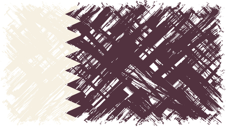 cleaned: Qatari grunge flag. Vector illustration. Grunge effect can be cleaned easily. Illustration