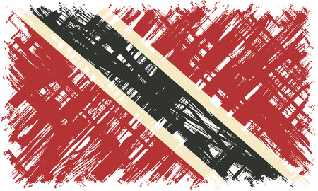 Trinidad and Tobago grunge flag. Vector illustration. Grunge effect can be cleaned easily.