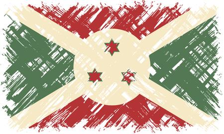 cleaned: Burundi grunge flag. Vector illustration. Grunge effect can be cleaned easily.