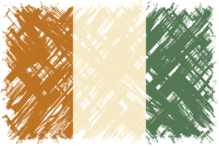 cote ivoire: Cote d Ivoire grunge flag. Vector illustration. Grunge effect can be cleaned easily.