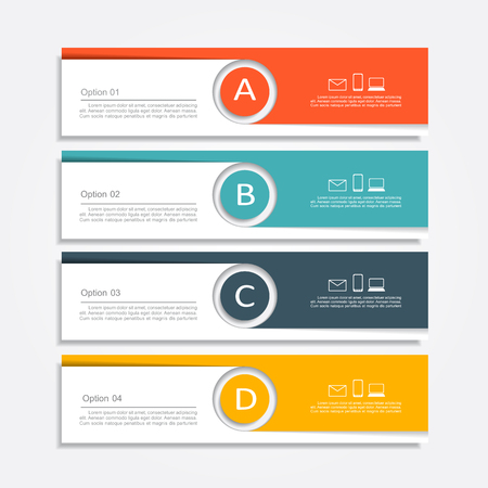numbers abstract: Banner info graphic design template with place for your data.