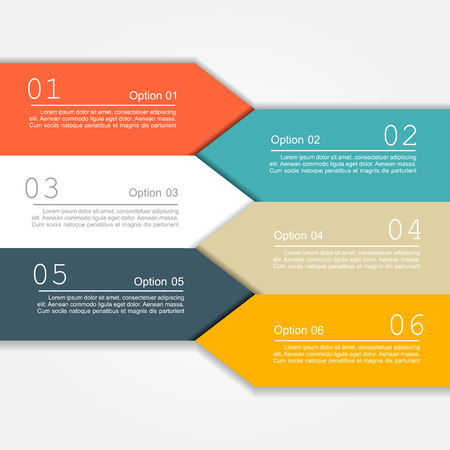 six web website: Banner infographic design template with place for your data. Vector illustration
