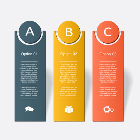 origami numbers: Banner infographic design template with place for your data. Vector illustration