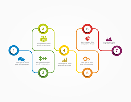 workflow: Banner infographic design template with place for your data. Vector illustration