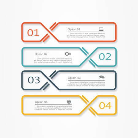 Infographic report template with place for your data. Vector illustration Ilustracja