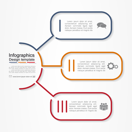 estructura: Plantilla de informe Infografía con el lugar de sus datos. Ilustración vectorial