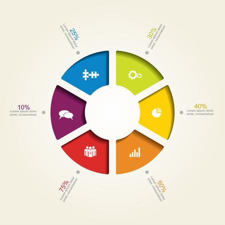 Plantilla de diseño de infografía bandera con el lugar para sus datos.
