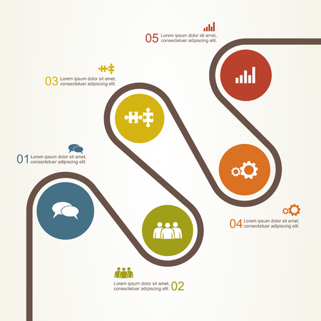 Banner infographic design template with place for your data.