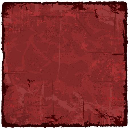 old frame: Red grunge texture vintage background. Vector illustration