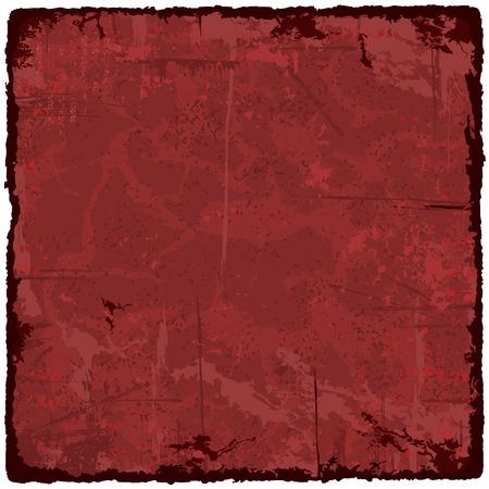 Red grunge texture vintage background. Vector illustration