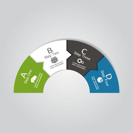 Infografik Berichtsvorlage mit Platz für Ihre Daten. Vektor-Illustration.