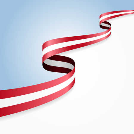 Austrian flag wavy abstract background. Vector illustration.