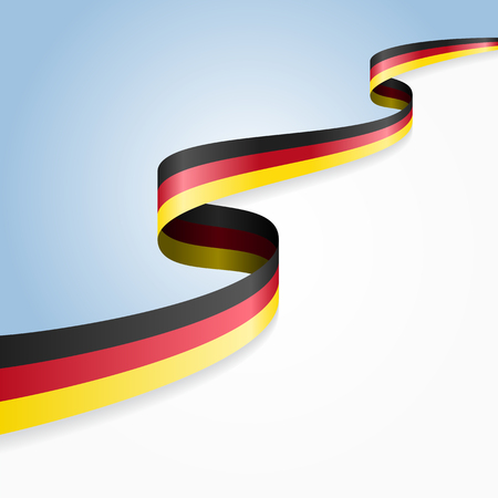Germany flag wavy abstract background. Vector illustration.