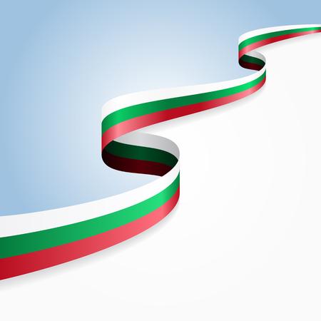 drapeau bulgare ondulé fond abstrait. Vector illustration.