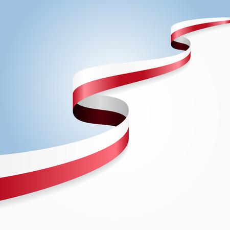 Polish flag wavy abstract background. Vector illustration. Illusztráció