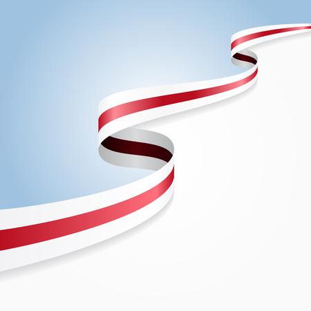 belorussian: Belorussian flag wavy abstract background. Vector illustration.