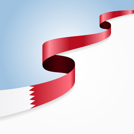bahrain: Bahrain flag wavy abstract background. Vector illustration.
