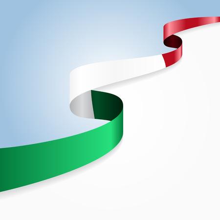 Italian flag wavy abstract background. Vector illustration. Vettoriali