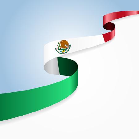 drapeau mexicain ondulé fond abstrait. Vector illustration. Vecteurs