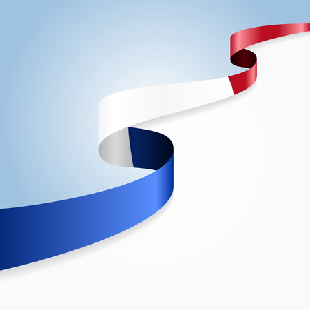 french flag: French flag wavy abstract background. Vector illustration.