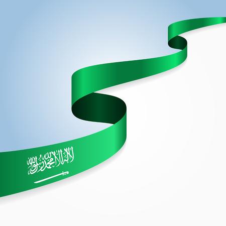 Arabie drapeau arabe ondulée fond abstrait. Vector illustration.