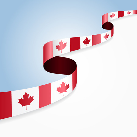 canadian flag: Canadian flag wavy abstract background. Vector illustration. Illustration
