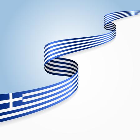 Griechische Flagge wellig abstrakten Hintergrund. Vektor-Illustration.