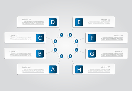 tab: Infographic design template with place for your data. Vector illustration.