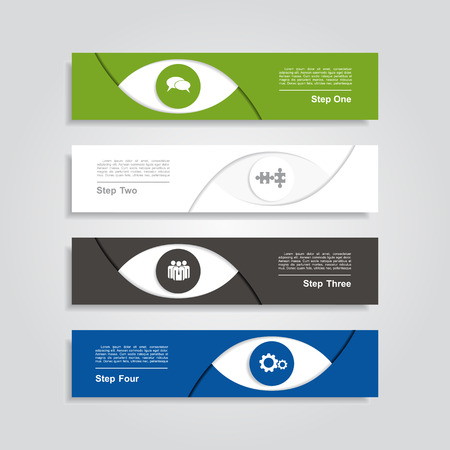four eyes: Infographic design template with place for your data. Illustration