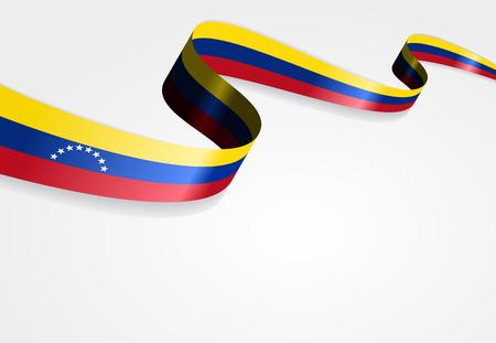 venezuelan: Venezuelan flag wavy abstract background. Vector illustration.