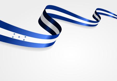 bandera honduras: bandera de Honduras Fondo abstracto ondulado. Ilustración del vector. Vectores