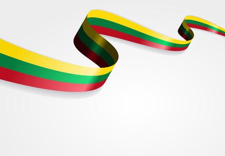 bandera de Lituania Fondo abstracto ondulado. Ilustración del vector.