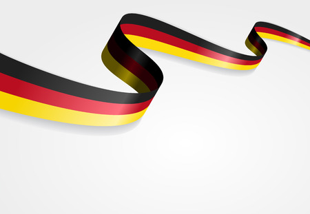 German flag wavy abstract background. Vector illustration. Çizim