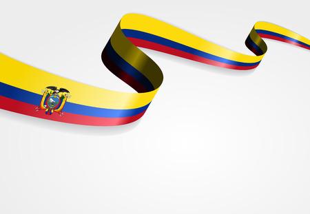 ecuadorian: Ecuadorian flag wavy abstract background. Vector illustration.