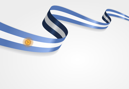 argentinean: Argentinean flag wavy abstract background. Vector illustration.