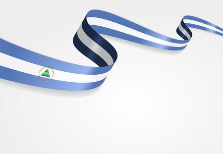 nicaraguan: Nicaraguan flag wavy abstract background. Vector illustration.