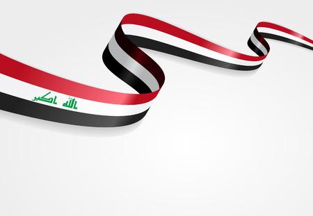 iraqi: Iraqi flag wavy abstract background. Vector illustration. Illustration
